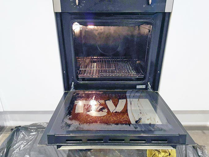 self cleaning oven cleaning