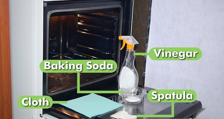 baking soda and vinegar oven cleaning